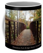 Thompson Park Bridge Stowe Vermont Poster Coffee Mug