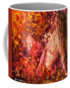 Thoughts Of Pleasure - Palette Knife Oil Painting On Canvas By Leonid Afremov Coffee Mug