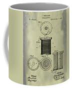 Thread Spool Patent 1877 Weathered Coffee Mug