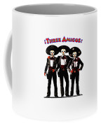 Three Amigos - Day Of The Dead Coffee Mug