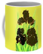 Three Black Irises, Painting Coffee Mug