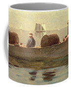 Three Boys In A Dory Coffee Mug by Winslow Homer