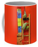 Three Budgies Coffee Mug