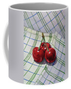 Three Sweet Cherries By Irina Sztukowski Coffee Mug