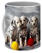 Three Dalmatian Puppies  Coffee Mug