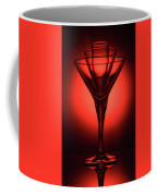 Three Empty Cocktail Glasses On Red Background Coffee Mug