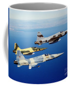 Three F-5e Tiger II Fighter Aircraft Coffee Mug