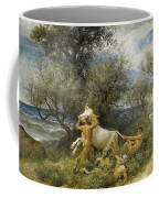 Three Faun With Cow And Calf Coffee Mug