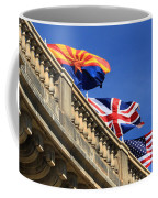 Three Flags At London Bridge Coffee Mug