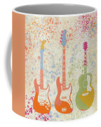 Three Guitars Paint Splatter Coffee Mug