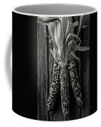 Three Indian Corn In Black And White Coffee Mug