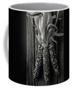 Three Indian Corn In Black And White Coffee Mug