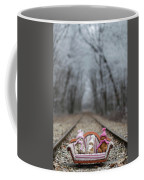 Three Little Teddy Bear Sit In A Sofa In The Middle Of The Winter Forest Coffee Mug