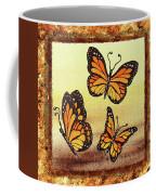 Three Monarch Butterflies Coffee Mug