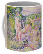 Three Nudes Coffee Mug by Henri Edmond Cross