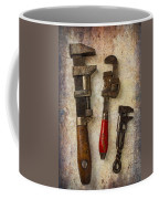 Three Old Worn Wrenches Coffee Mug
