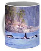 Three Orca Whales Coffee Mug