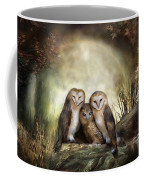 Three Owl Moon Coffee Mug by Carol Cavalaris