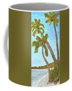 Three Palms At The Beach Coffee Mug