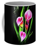 Three Pink Calla Lilies. Coffee Mug