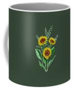 Three Playful Sunflowers Coffee Mug