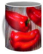 Three Red Bell Peppers Coffee Mug