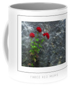 Three Red Mums Poster Coffee Mug