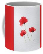 Three Red Poppies Coffee Mug