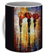 Three Red Umbrellas Coffee Mug