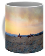 Three Riders In The Kansas Flint Hills Coffee Mug