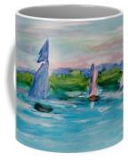 Three Sailboats Coffee Mug
