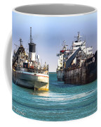 Three Ships In The Harbor Coffee Mug