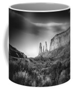 Three Sisters Formation At Monument Valley Coffee Mug