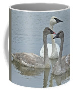 Three Swans Swimming Coffee Mug