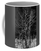 Three Trees In Black And White Coffee Mug
