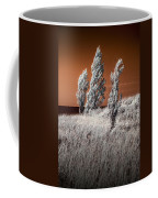 Three Trees  In Infrared On Top Of A Grassy Dune Coffee Mug