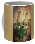 Three Vintage Coca Cola Bottles  Coffee Mug