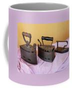 Three Vintage Irons Coffee Mug