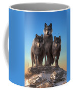 Three Wolves Watching You Coffee Mug