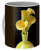 Three Yellow Calla Lilies Coffee Mug