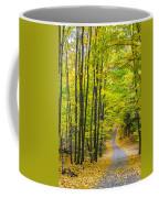 Through Yellow Woods Coffee Mug