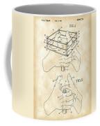 Thumb Wrestling Game Patent 1991 - Vintage Coffee Mug