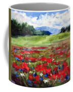 Thunder Clouds Over Bavarian Meadow Coffee Mug
