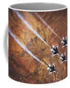 Thunderbirds In Diamond Roll Formation Coffee Mug