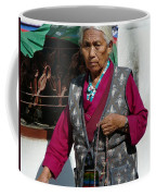 Tibetan Grandmother In Meditation Coffee Mug