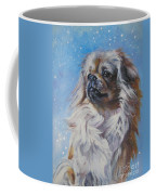 Tibetan Spaniel In Snow Coffee Mug