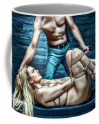 Tied Girl, Punished By Master - Fine Art Of Bondage Coffee Mug by Rod Meier