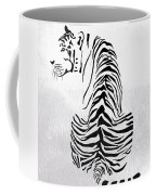 Tiger Animal Decorative Black And White Poster 4 - By  Diana Van Coffee Mug
