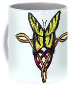 Tiger-butterfly Celtic Double Knot Coffee Mug