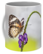 Tiger Butterfly Perched On A Flower Coffee Mug